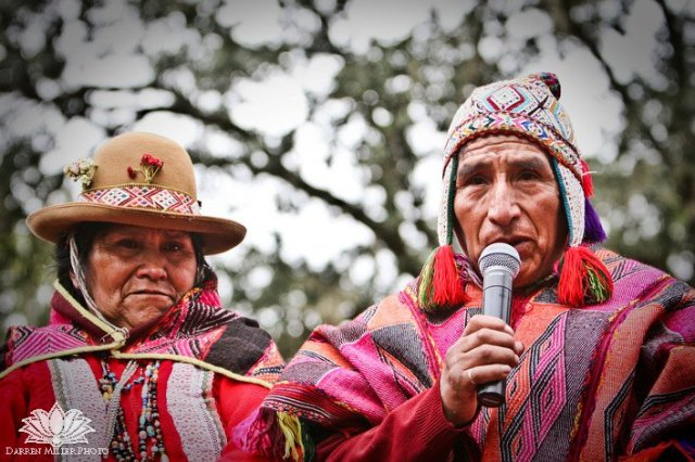 In 2010, Elders of the Q'ero Nation address a crowd of 10,000+With a world wide audience on the internet, as a part of Project Ayni
