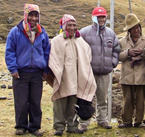 The President of Chua Chua, alongside with Elders of the village and IQF radio technician